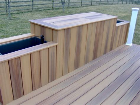 Trex Bench Custom Deck Planters Modern Deck Wilmington By
