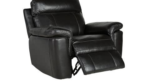 hudson square black leather glider recliner