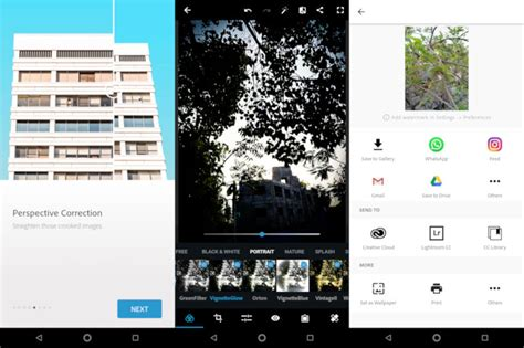 photoshop apps for android adobe photoshop express for android gets automatic perspective correction vignette effects and more