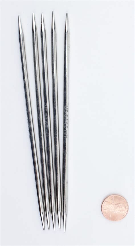 size 6 knitting needles platina 6 quot point size 6 knitting needles by