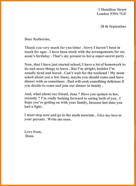 informal letter format to friend letters