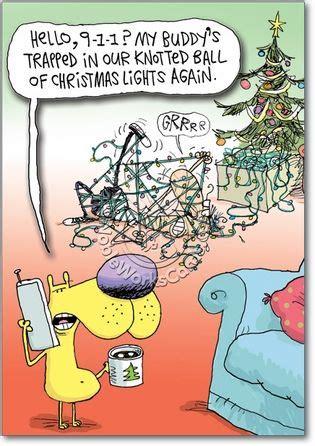 funny tangled lights christmas card nobleworkscardscom christmas humor christmas cartoons