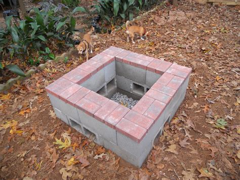 Block Firepit December 2013 Pit Done It Is Three Levels Of Cement Block Bottom Level Is Underground