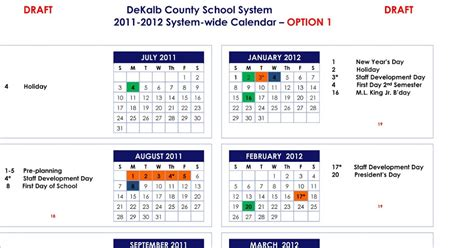 Dekalb School Calendar Dekalb County School 2011 2012 And 2012 2013 School