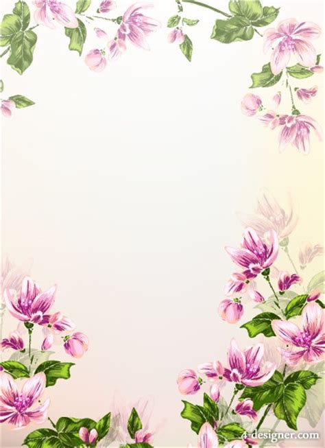 background design with flowers 4 designer colorful floral background design vector material
