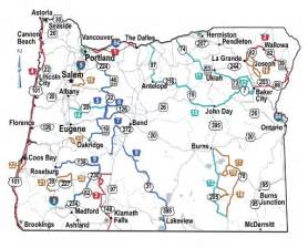 oregon state map showing cities oregon scenic byways tripcheck oregon traveler information
