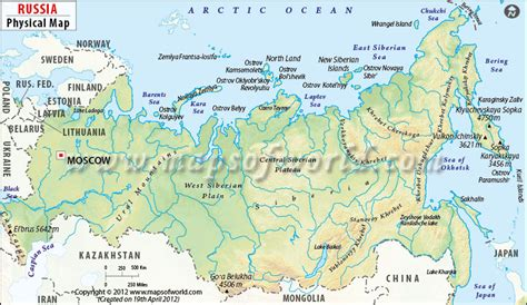map of europe and russia physical is russia in asia or in europe