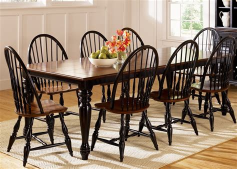 windsor dining room set thinking of black windsor chairs to go with my espresso