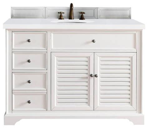 bathroom vanities beach style savannah 48 quot single vanity cabinet cottage white beach