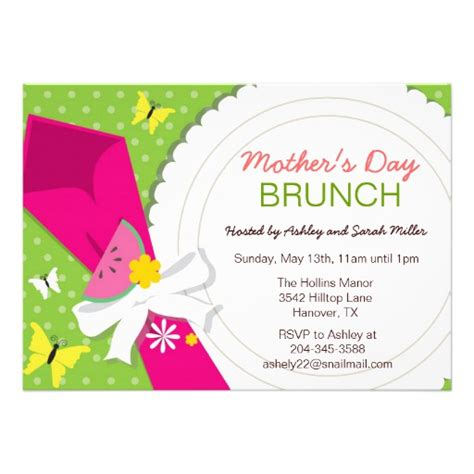 brunch invitation template free s day brunch invitations 5 quot x 7 quot invitation