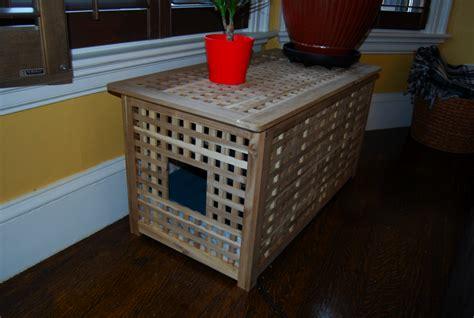 cat litter box table hol cat litter box with sliding top ikea hackers ikea