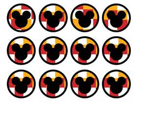 cupcake tops mickey mouse cupcake toppers paper trail design