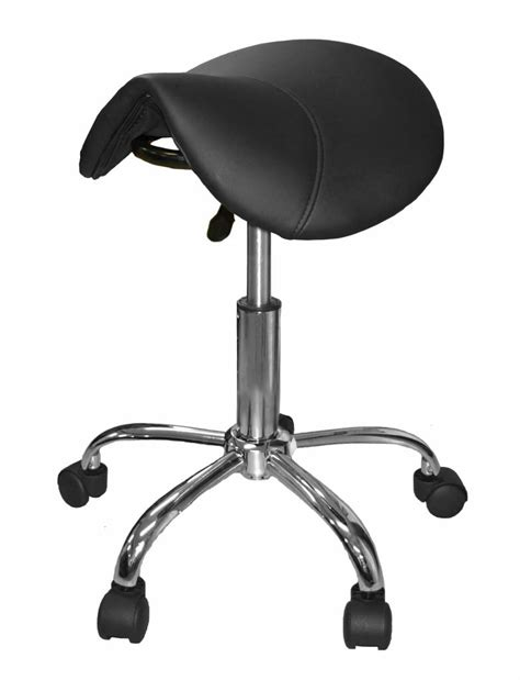 Black Saddle Stool by Saddle Stool Black