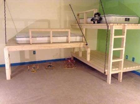 Hanging Bed Frame Plans Best 20 Bunk Beds Ideas On