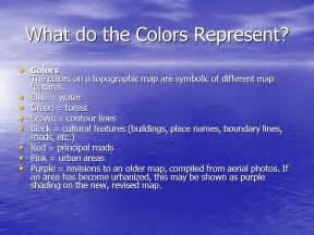 what does the color brown symbolize what is the value of water ppt