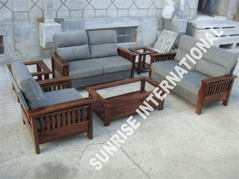 Wooden Couches by International Wooden Sofa Sets L Shade Sofa Set