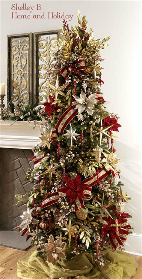 Decorated Christmas Trees | raz christmas at shelley b home and holiday decorated