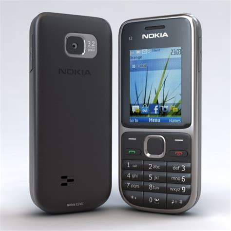 format video nokia c2 3d model of nokia c2 01 black phone