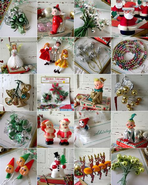 vintage style xmas tree decorations