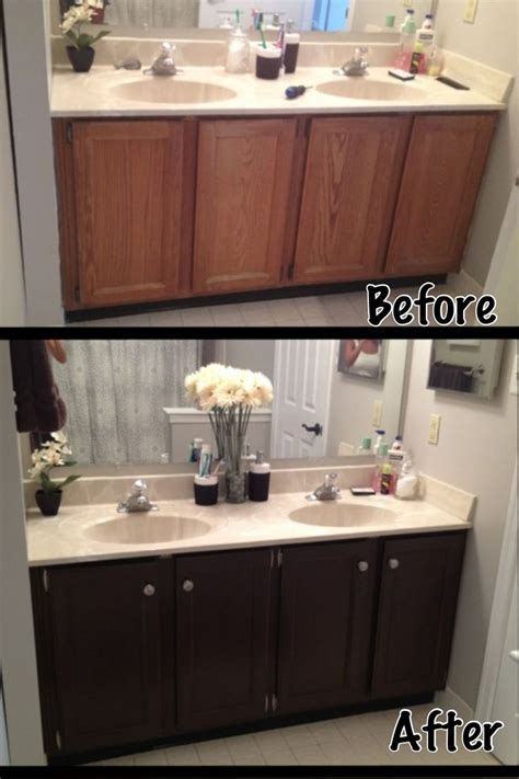 brown painted bathroom cabinets best 25 brown painted cabinets ideas on pinterest