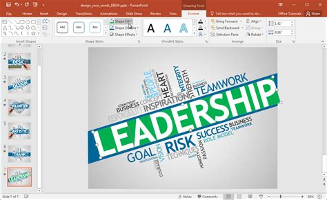 Animated Word Cloud Powerpoint Template Powerpoint Make Template