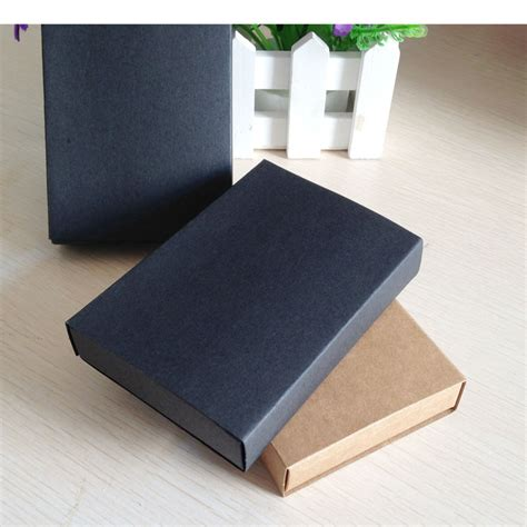 Craft Paper Gift Boxes - 24pcs kraft darawer box black paper carrying cases blank