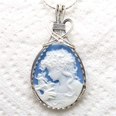Faerie Cameo Pendant 925 Sterling Silver Jewelry