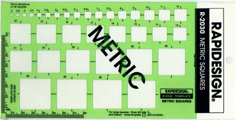 berol rapidesign template metric squares drawing r 2030 ebay