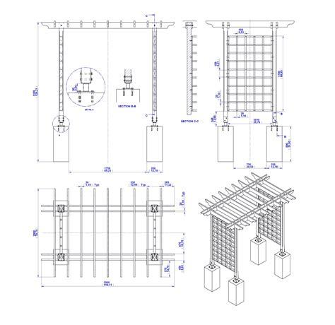 wood trellis construction details plans diy