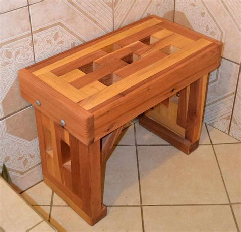 miscellaneous why buying cedar shower bench interior