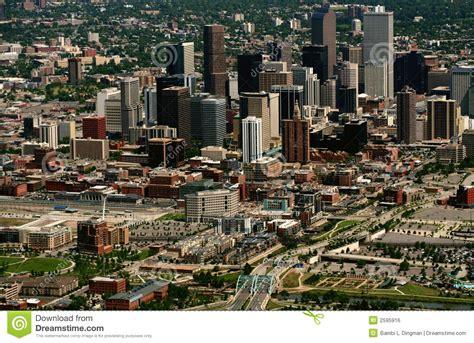 urban lights denver colorado aerial view of denver royalty free stock image image