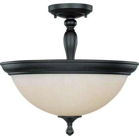 home depot dome light glomar 3 light aged bronze semi flush mount dome light