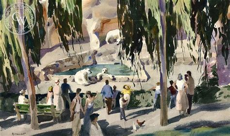 painting zoo grizzly grotto at the zoo in san diego 1953 by