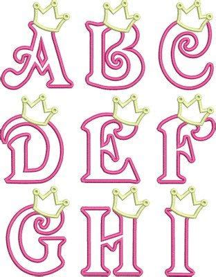 princess letter template iron on applique princess crown letters a z crafts