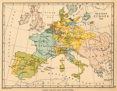 western europe in 1700 size