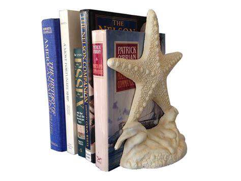 beach home decor wholesale buy set of 2 antique white cast iron starfish book ends