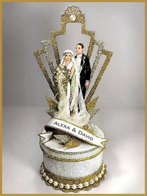 deco wedding cake toppers 1920 s quot deco quot great gatsby wedding cake topper keepsake box 2506474 weddbook