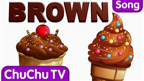 colors for brown color songs the brown song learn colours preschool