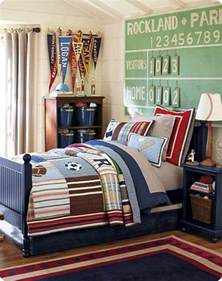 Michele was inspired by the junior varsity sports bedroom from pottery