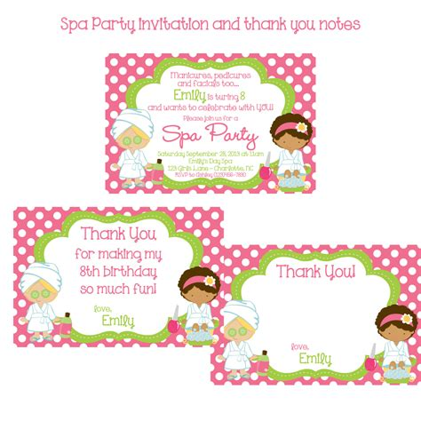 Salon Thank You Card Template by Spa Invitation And Thank You Notes