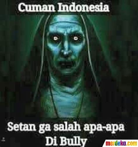 film setan lucu indonesia foto meme kocak valak ketika hantu conjuring dibully