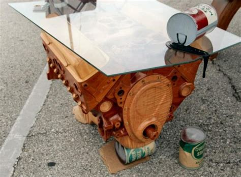 Chevrolet 350 Engine Coffee Table