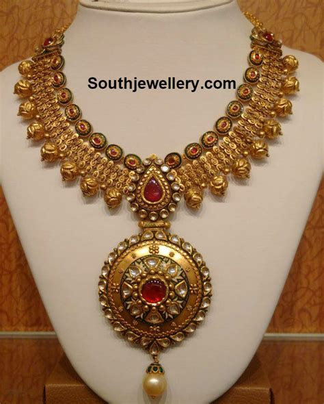 antique design beautiful antique gold necklace jewellery designs