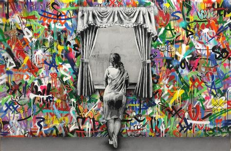 wallpaper tembok barcelona stencil art that blends graffiti and decay by martin