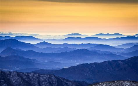 nature photography landscape mountains sunrise mist