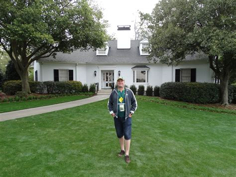 outside butler cabin where the green jacket is presented