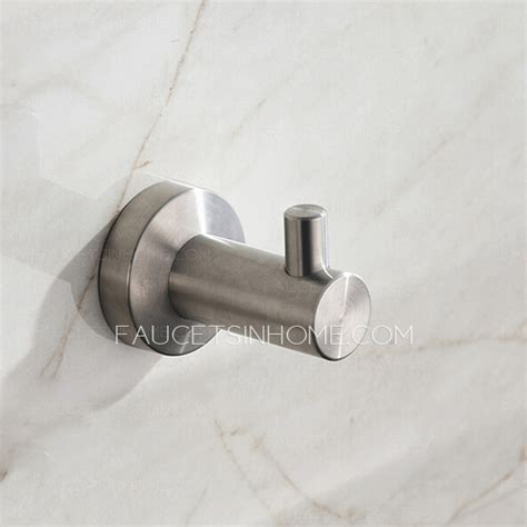 Modern Brushed Nickel Stainless Steel 5 Piece Bathroom Brushed Stainless Steel Bathroom Accessories