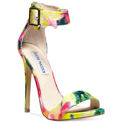 steve madden floral sandals steve madden marlenee ankle sandals in floral lyst