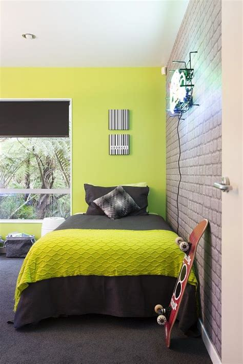 lime green walls lime green bedroom zingy lime green wall teamed with cool