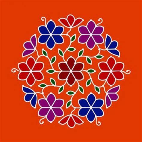 dot pattern rangoli freehand rangoli with designs and dots